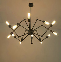 Loft style Industry spider 8,12,16 Heads Vintage industrial pendant lighting lamp fixture study Room/Restaurant