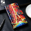 TAOYUNXI PU Leather Case For Lenovo A536 A606 A800 A8 A806 A820 A850 Cases Wallet With Card Holster Cover DIY Painted Shell