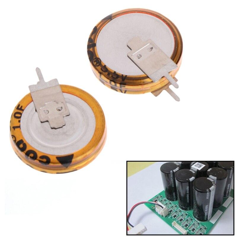 2Pcs Universal 5.5 V 1.0F Super Capacitor V-Type Button Smart 5mm Capacitance S08 Drop ship цены