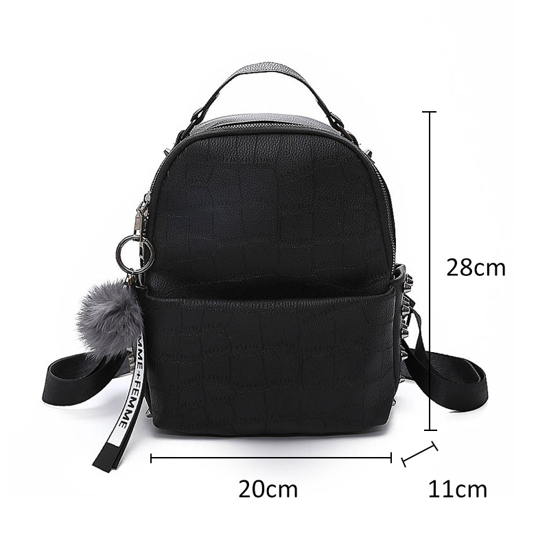 Casmor Women Luxury Brand Pu Leather Backpack Female Fashion Vintage Mini School Bag For Adolescent Girls Backpacks #3