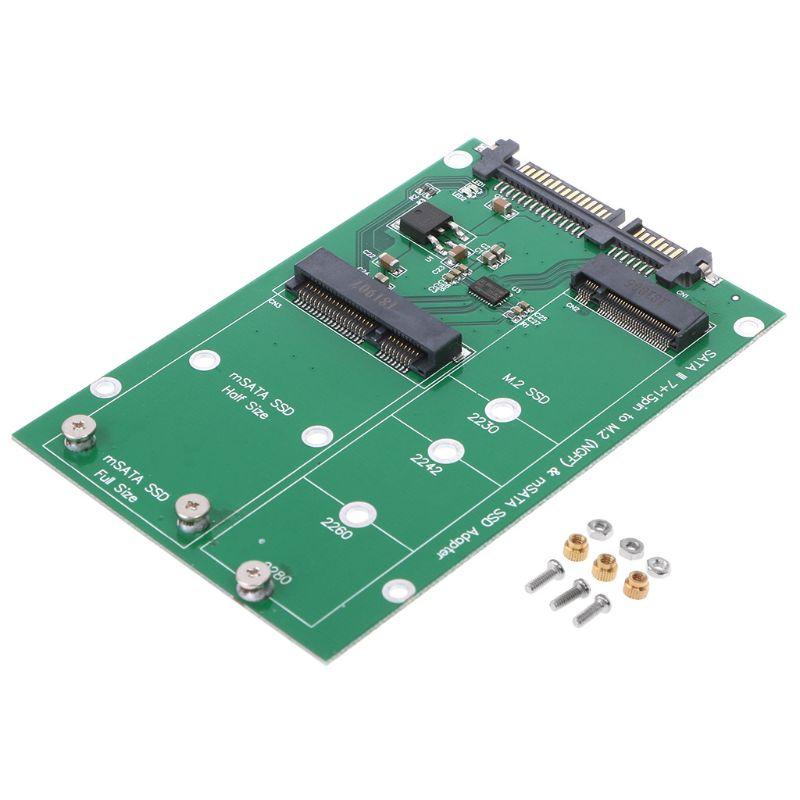 BGEKTOTH SATA 3 / 6Gbps M.2 B / B+M KEY  NGFF or mSATA SSD to SATA III Adapter Card Hot