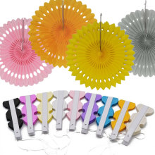 1pc 20/25/30cm  Pinwheel Paper Fans Flower Tissue Paper Craft Wedding Baby Shower Birthday Party Decorative Supplies