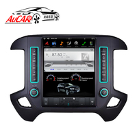 AuCAR Tesla Style 12.1 Android 7.1 Touch Screen radio For GMC Sierra Chevrolet Silverado Radio GPS Navigation Vertical IPS AUX