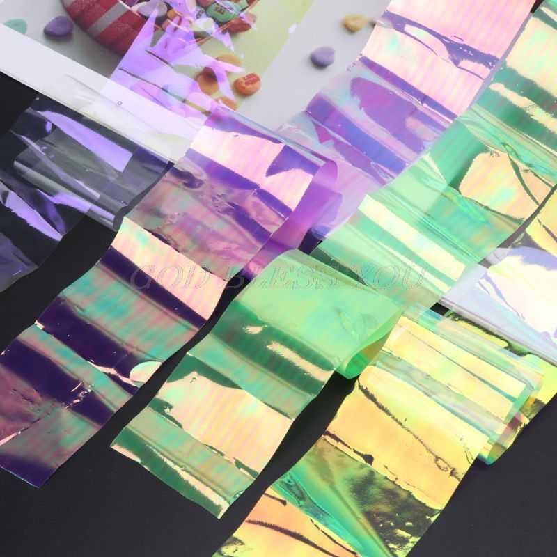 Láser Aurora AB efecto reflectante espejo papel DIY resina epoxi joyería empastes