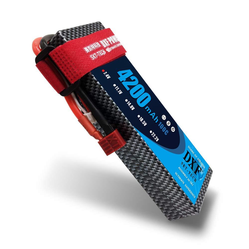 DXF POWER 4200 mAh Lipo 2 S 7.4 V 100C-200C étui rigide batterie au Lithium polymère pour voiture RC Drone Robot FPV camion