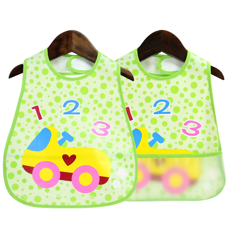 3 pcs/lot Baby bibs 2018 EVA waterproof cartoon animal 0-3 years Bibs mouth with pocket newborn baby infant feeding Accessories