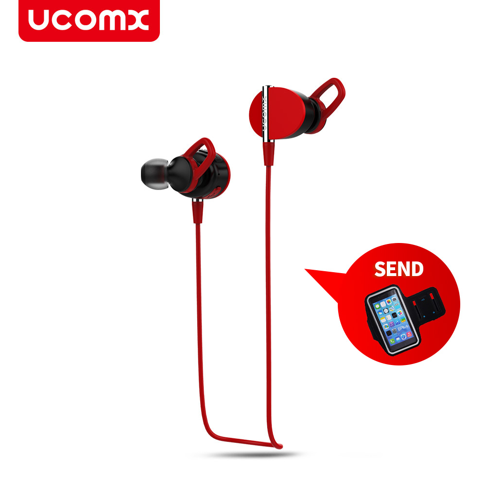 UCOMX U27 Wireless Bluetooth Headphones Stereo Earphone Sports Headset Hands-free Earbuds for Mobile Phone iPhone 6 6S 7 Samsung remax t9 mini wireless bluetooth 4 1 earphone handsfree headset for iphone 7 samsung mobile phone driving car answer calls