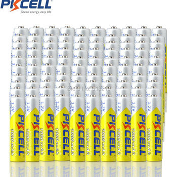 100pcs PKCELL AAA battery 1.2v NIMH aaa rechargeable batteries 3A NI-MH batteries rehcragebale flashlight camera batteries
