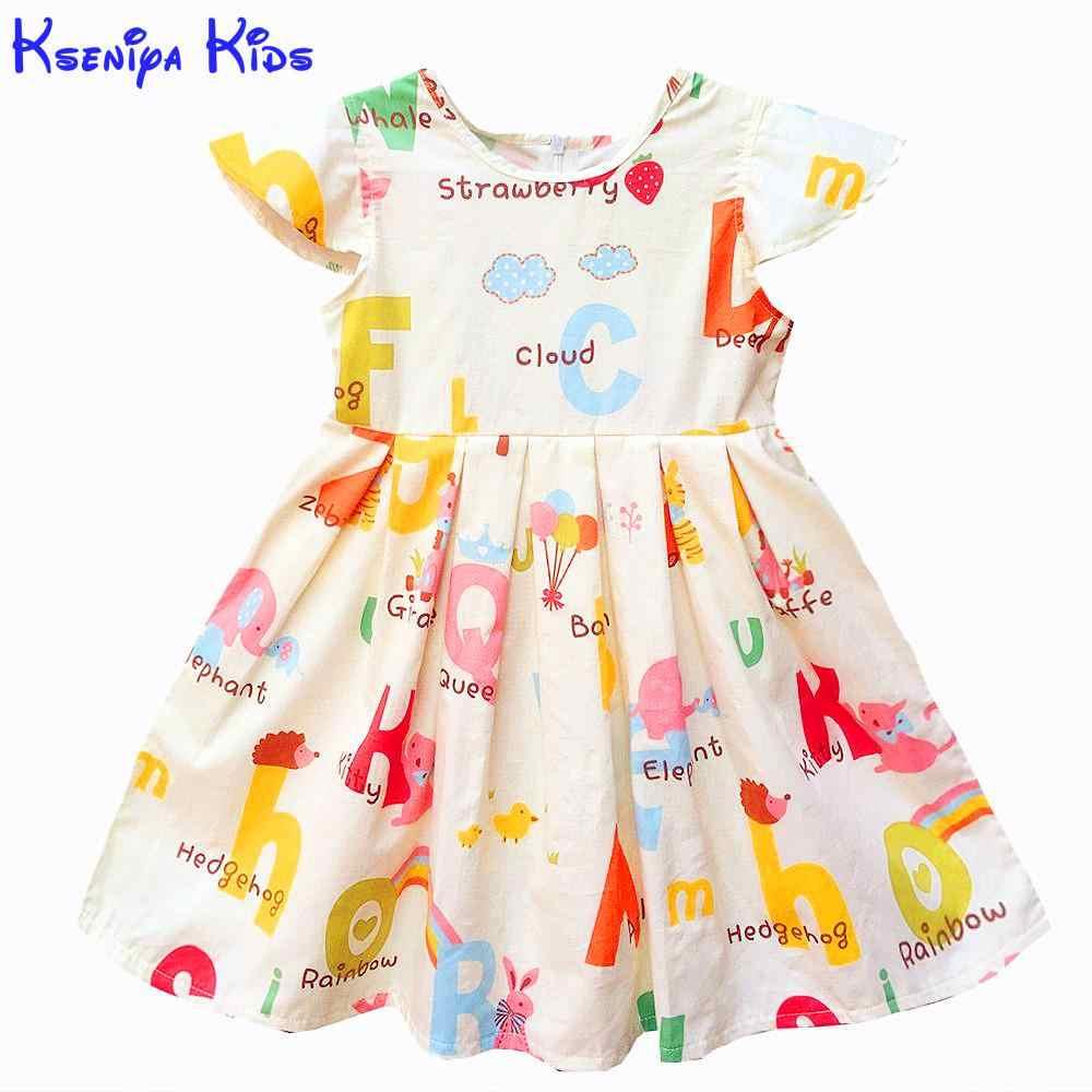 a6502aa110 Kseniya Kids Baby Girls Clothes Baby Girl Summer Princess Party Cute Cotton Dress  Kids Dresses For