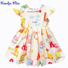 Kseniya Kids Baby Girls Clothes Baby Girl Summer Princess Party Cute Cotton Dress Kids Dresses For Girls Flower Girl Dresses