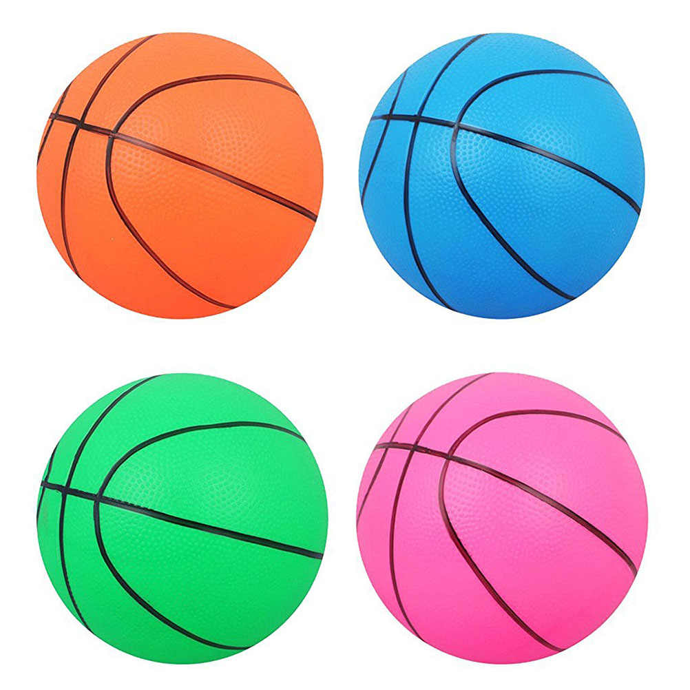 Mini Bouncy Basketball Indoor Outdoor Sport Ball Game Toy Competition Orange