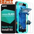 Película de vidrio para el iphone 6 6 s 7 7 plus, esr 2 pack resistencia templado protector de pantalla de cristal con el aplicador para iphone 6 s plus