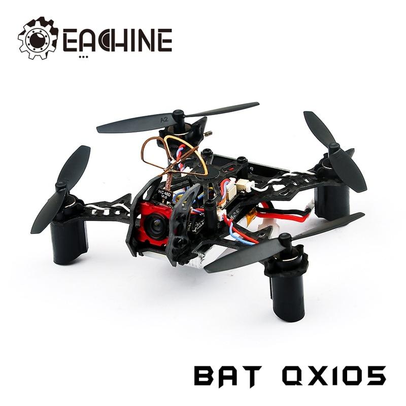 Original Eachine BAT QX105 w/ AIOF3_BRUSHED OSD 600TVL CAM 1020 Motor Buzzer Micro FPV RC Racer Racing Drone Quadcopter BNF original eachine e56 jjrc h47 rc