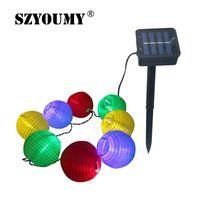 SZYOUMY Waterproof 20 LED Solar Lantern Lamps Festive Garden Xmas Ball String Fairy Light 4 8M