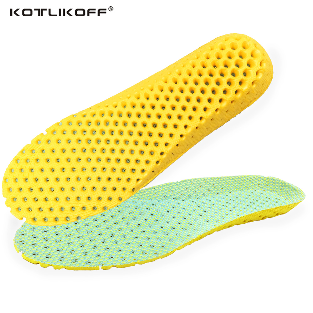 Unisex school Insoles Orthotic Arch Support Sport Running Shoe Pad Active Carbon Fiber Remove Odors Insole Insert Cushion