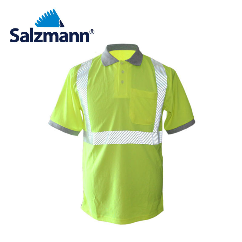 Salzmann Breathable High Visibility Reflective Work Polo