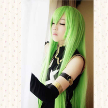 Code Geass.CC 100cm Long straight high temperature fiber fashion synthetic play wig Classic Cosplay Wig + Wig Cap
