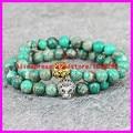 2PCS Lion head Refinement Bracelet 2015 natural Green Emperor Jade stone Ladies Bracelets Fashion Jewelry For Women/men