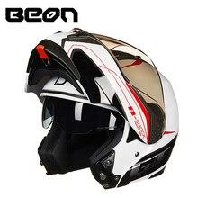 100% Originale BEON Moto casco Flip-Up A Doppia Visiera Caschi Da Corsa Moto Moto velocità di guida casco