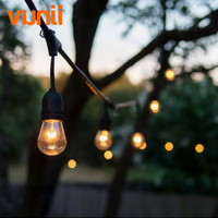 IP65 Wedding Lighting Globe String Lights With Clear S14 Bulbs UL Listd Commercial Quality String Lights