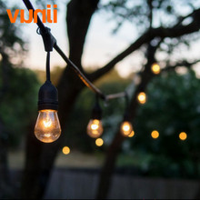 IP65 Wedding Lighting! Globe String Lights with Clear S14 Bulbs - UL Listd Commercial Quality String Lights Perfect for Outdoor