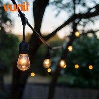 Vender Iluminación de boda IP65 Guirnalda de luces de globo con bombillas S14 transparentes UL Listd luces de cadena de calidad comercial perfectas para exteriores