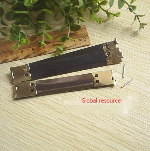 30 pieces/lot 8.5cm Brass Metal Internal Flex Frame for DIY Purse Wallets Purses Spring Flex Purse Frame Silver 3.3inches