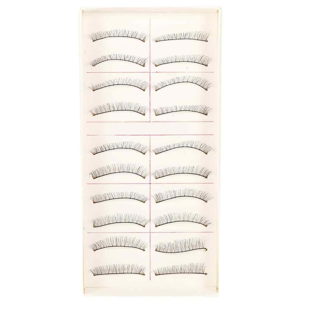 Ручной работы Длинные разреженные пересекающиеся Накладные ресницы расширение ресницы натуральные черные макияж