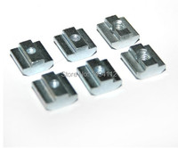 T Sliding Nut Block M6 For 30 Series Aluminum Profile Slot 8 Zinc Coated Plate Aluminum