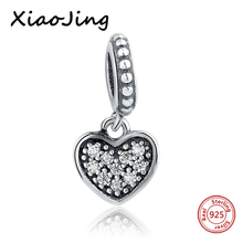 hot deal buy 925 sterling silver love heart micro pave cz stone beads fit original european bracelet beads diy jewelry making for women gifts