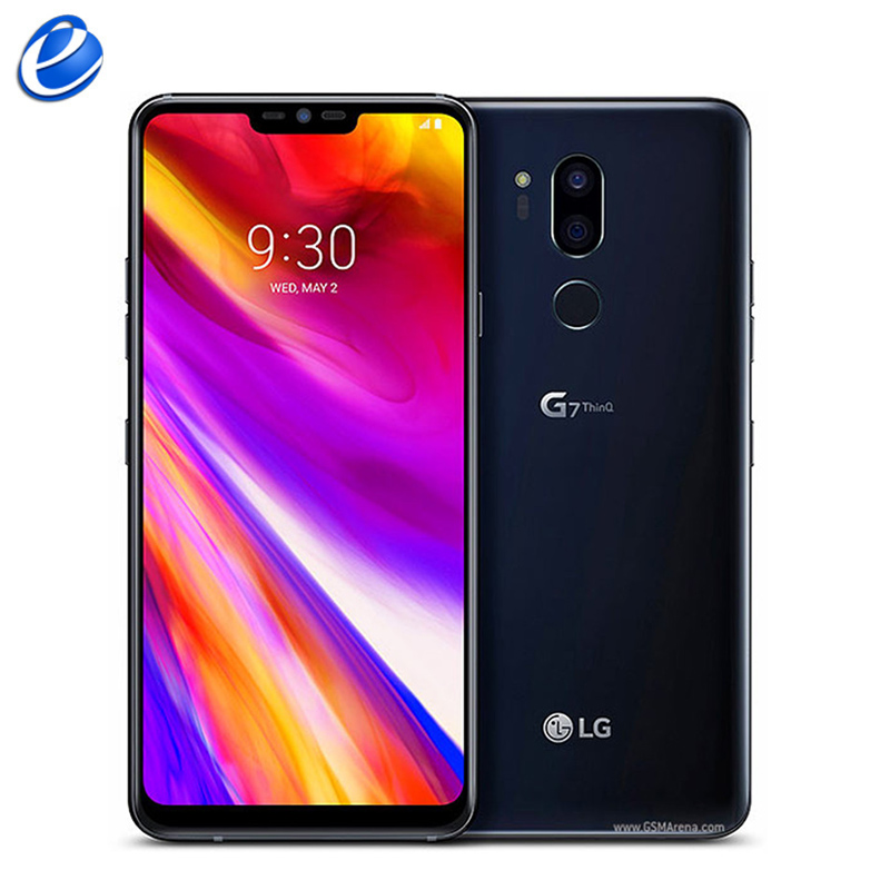 """Original Unlocked LG G7 ThinQ G710 LTE Android Octa Core Dual 16MP Rear Camera 2160P 6.1"""" 64G ROM 4G RAM NFC Android Cellphone