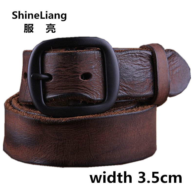 Cowhide Genuine Leather Belts men brand Strap male pin buckle fancy vintage jeans strap male cintos