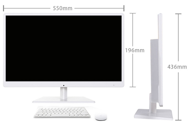 Office/Home Use All In One DIY PC Desktop With CPU I3/i5/i7 RAM 2GB/4GB/8gb HDD 120Gb/1tb 18.5 22 24 27inch LCD HD 1080p Monitor