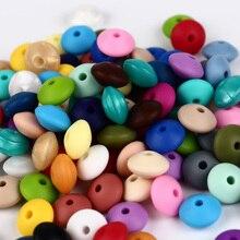 TYRY.HU Silicone Lentil Beads Mix 100pc Baby Teething Bead 12mm Food Grade Silic