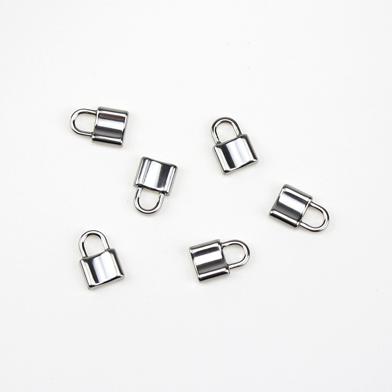 5pcs/lot Stainless Steel Hypoallergenic Padlock Charm 23x15mm Steel Tone Never Fade Lock Floating Pendant DIY Jewelry Findings