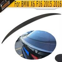 Fibra De carbono traseiro Trunk Spoiler asa para BMW X6 F16 M Sport M Tecnologia 2015 2016 2017|trunk spoiler wing|spoiler wing|trunk spoiler -