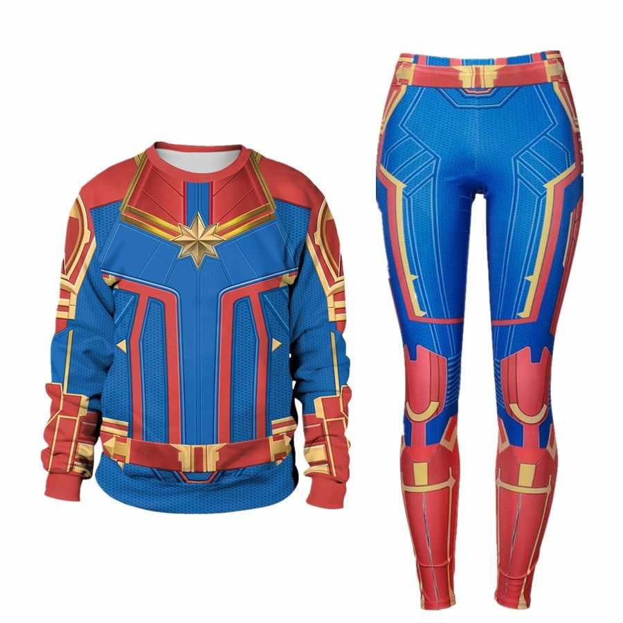 קפטן מארוול קרול Danvers תלבושות קוספליי הסווטשרט למעלה מכנסיים נוקמי: סוף המשחק ליל כל הקדושים נשים בגד גוף שמלה