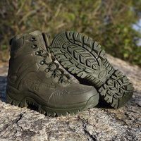 Army Men Commando Combat Desert Outdoor Hiking Boots Landing Tactical Military Shoes Men Military Leather Snow Boots XX 410