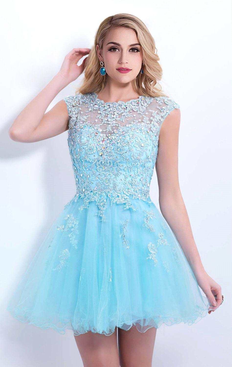 Light Blue Cocktail Dress Promotion-Shop for Promotional Light ...