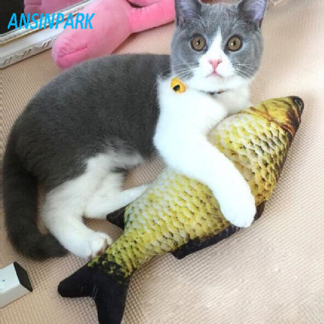 ANSINPARK gatto per i pesci giocattolo peluche cane giocattolo pesce pesce a for