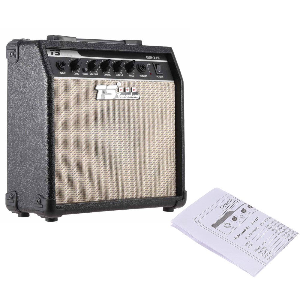 NEW Arrival GM 215 Professional 15W Electric Guitar Amplifier Amp Distortion with 3 Band EQ 5