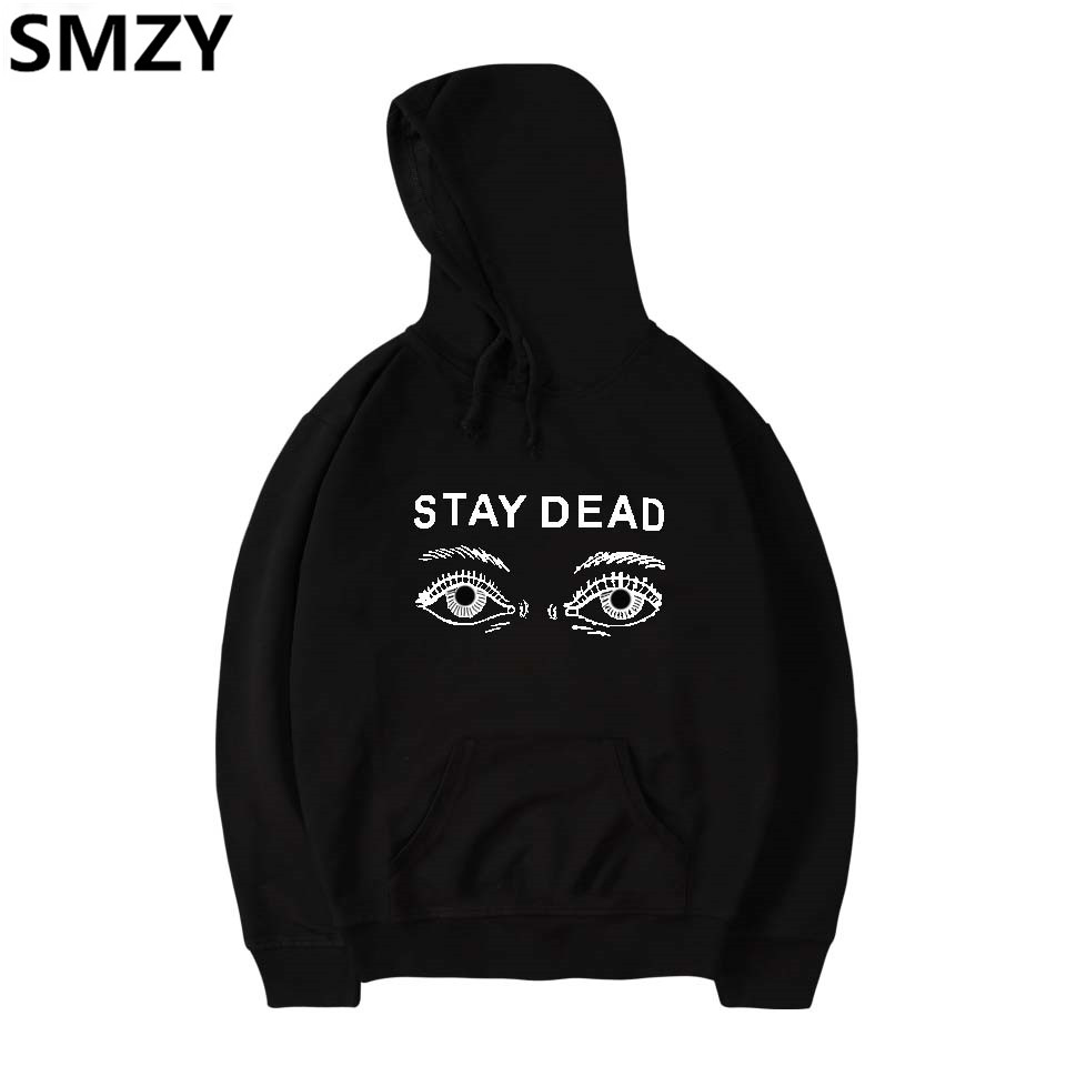 SMZY Eye Hooded Women Winter Sweatshirts Fashion Printing Stay Deda Women Winter Sweatshirts Casual Funny Streetwear Clother