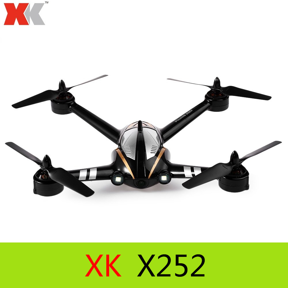 Original XK X252 2.4G 7CH 5.8G FPV 3D 6G RC Quadcopter RTF with 720P 140 Degree Wide angle HD Camera Brushless Motor