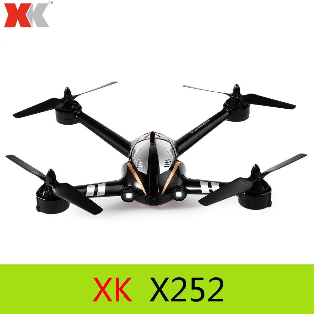 Originale XK X252 2.4G 7CH 5.8G FPV 3D 6G RC Quadcopter RTF con 720 P 140 Gradi grandangolare Fotocamera HD Brushless motore
