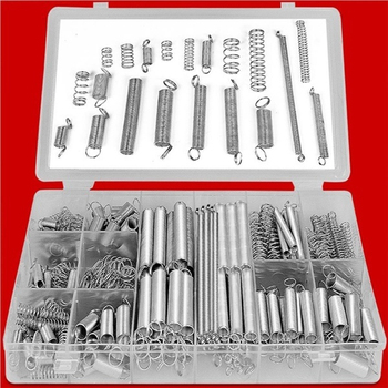 Spring Pressure Spring Portable Spring Set Spacer 200pcs/Box Mechanical Industry Silver Durable кровати box spring