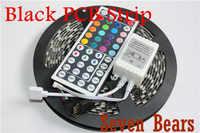 Черная печатная плата 5050 светодиодный RGB полоса 5 м IP65 светодиодный водонепроницаемый 300 светодиодный s/рулон + 44 клавиши ИК-пульт