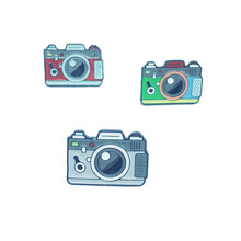 Camera Metal Enamel Brooch Creative Fashion Vintage Camera Badge Pin Fun Trendy Costume Backpack Jewelry Accessories Gift