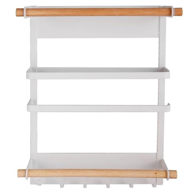 34x27.5cmRefrigerator Magnet Storage Rack Kitchen Cling Film Storage Rack Tin Foil Paper Towel Holder Shelf Plastic Wrap Cutting