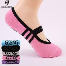 919c2f0df Mujeres Anti deslizamiento algodón vendaje deportes Yoga calcetines señoras  ventilación Pilates Ballet danza zapatillas calcetín 6