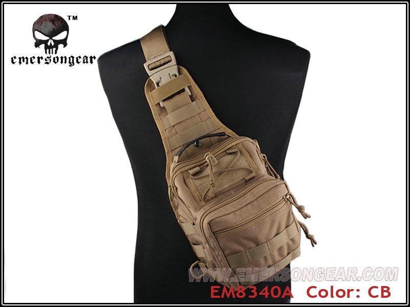 ФОТО Emerson Molle Military Man Messenger Bag Travel Chest Bag Crossbody Backpack Men's Shoulder Bag Hunting Accessories EM8340 CB ^